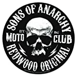 """SONS OF ANARCHY, Moto Club Skull, Officially Licensed, 3.75"""" x 3.75"""", Die-Cut STICKER ADESIVO DECAL"""