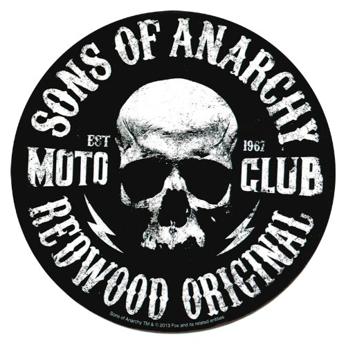 Sons Of Anarchy Moto Club Skull Autocollant