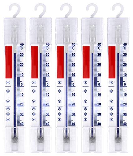 5 piezas sistema frigorífico, congelador, nevera, nevera termómetro. analógico con ganchos visualización...