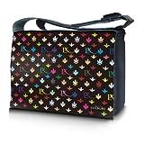 Luxburg design sac en bandoulière sacoche sac collège daily bag 17,3 pouces, motif: LX Modèle noir