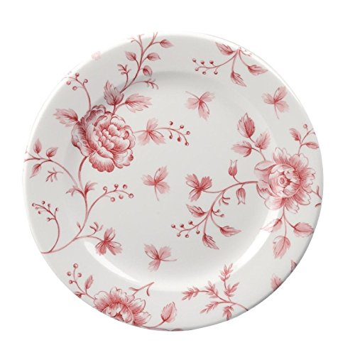 Churchill Super Verglastes gf615Vintage Prints Tee Teller, 170mm, cranberry Rose Print (Pack von 6) - Cranberry-rosen