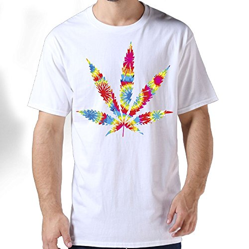 Tie Dye Weed Marijuana Men's T-Shirt Short Sleeve Crew Neck Casual Round Neck Tees For Adults Men (Tie Terry Dye)