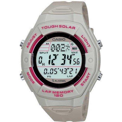 CASIO Collection LW-S200H-8AEF - Reloj de mujer de cuarzo, correa de resina color gris (con alarma, luz, cronómetro)