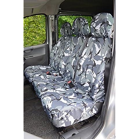 Peugeot Expert furgone 2007 al 2016 sedile del conducente e passeggero anteriore coprisedili, colore: grigio mimetico