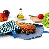 Roll'eat Boc'n'Roll Tiles - Porta bocadillos reutilizable - bolsa merienda - funda bocadillos- bolsa desayuno- BPA Free