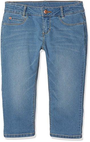 ESPRIT Mädchen Shorts Bermuda, Blau (Bleached Denim 413), 146