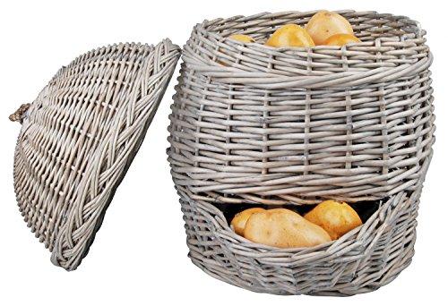 Esschert Panier à pommes de terre, gris