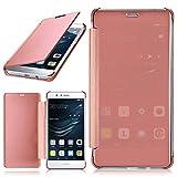MoEx Huawei P9 Lite | Hülle Transparent TPU [OneFlow Void Cover] Dünne Schutzhülle Rosé-Gold Handyhülle für Huawei P9 Lite / G9 / G9 Lite Case Ultra-Slim Handy-Tasche mit Sicht-Fenster