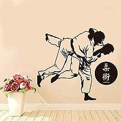 Hochwertige Japanische Karate Wandaufkleber Kunst Vinyl Aufkleber Wohnkultur Gym Aufkleber Abnehmbare Haus Aufkleber für Schlafzimmer 64x58 cm