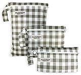 Eslesgreen 3x wiederverwendbare Windeltaschen - Wasserdichte Taschen mit Reißverschluss für Badeanzug - Baby Kleidung Veranstalter