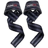 Youngdo Zughilfen, rutschfeste und verstellbare Lifting Straps zur Verstärkung und Verlängerung der Griffkraft beim Gewichtheben, Klimmzug und anderen Sportarten, 2 Stück für Damen und Herren