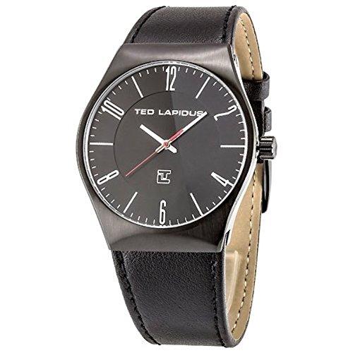 Ted Lapidus 5128303 - Reloj de pulsera hombre, piel, color negro