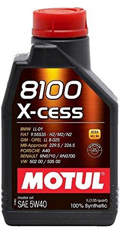Motul 8100 x-cess 5W-40 olio motore completamente sintetico per auto - 1 litro