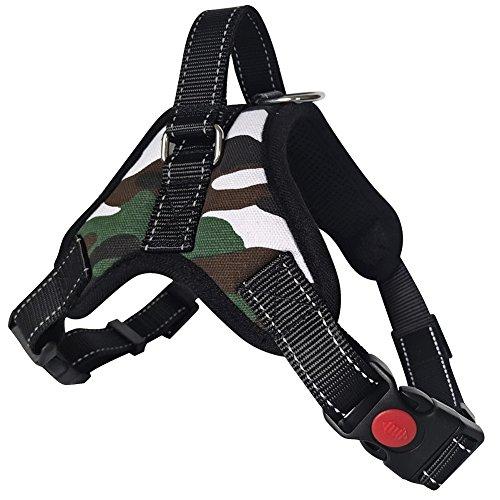 Lantra Besa Hochwertige Hundegeschirr Harness Weste für Kleine/Mittlere / Große Hunde - Verstellbar Reflektierend und Gepolstert Typ 1 - Camouflage, XL