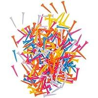 200x Campos De Color Mezclado Plástico Tees Accesorios De Formación Práctica Del Golf - 69mm