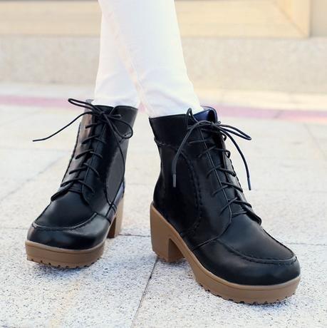 &ZHOU femmina adulti 'Boots autunno e l'inverno stivali brevi Martin stivali Cavaliere stivali A31 Black