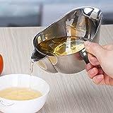 BaBaSM Küche Ölfilter Separator Sieb, 304 Edelstahl Küche Ölfilter Schüssel Suppe Fettabscheider Sieb Kochen Werkzeug