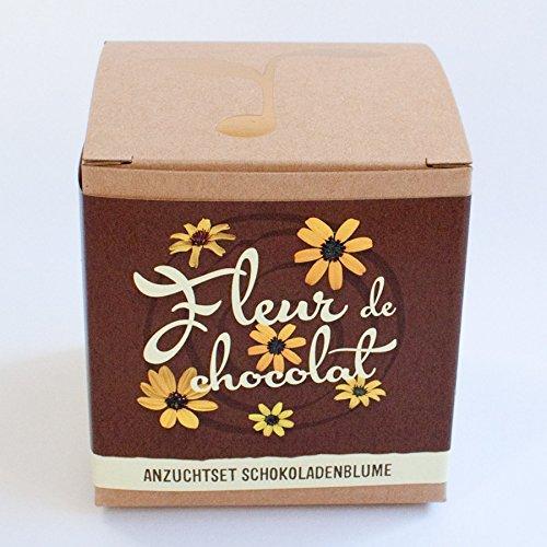 """Geschenk-Anzuchtset """"Fleur de chocolat"""" - Schokoladenblume"""