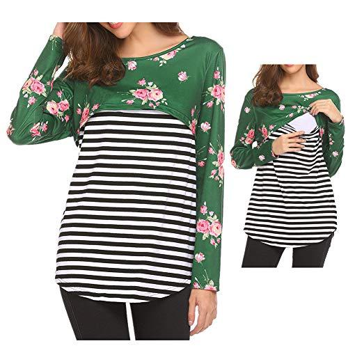 Morbuy Schwangere Kleidung Blusen Einfarbig Stillbekleidung Elegante Damen Lange Ärmel T Shirt Schwangere Frau Geschenk Lockeres Sweatshirt.