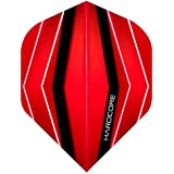 Hardcore Red Wave Design Extra Thick Standard Dart Flights - 4 Sets Per Pack (12 Dart Flights In Total) & Red Dragon Checkout Card