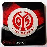 Coca Cola Zero - Fußballvereine - 1. FSV Mainz 05 - Kühlschrankmagnet 6 x 6 cm