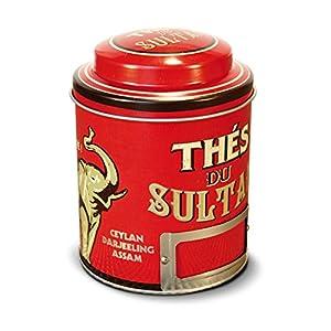NATIVES 211146 Thés du Sultan Boîte à thé Métal Multicolore 9 x 9 x 11,5 cm
