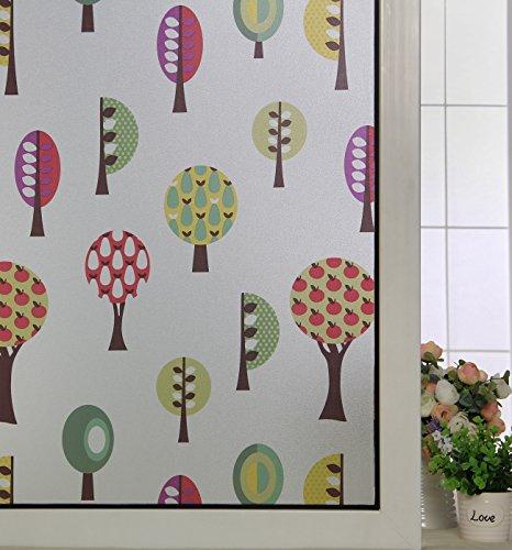 ABO Pellicola per finestre, Pellicola decorativa non adesiva, 90*200CM,