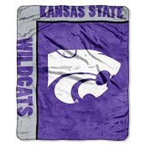 NCAA Officially Licensed Kansas State Wildcats Royal Plush Raschel Fleece Throw Blanket by Northwest