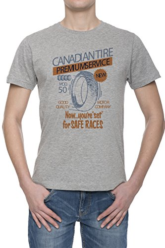 canadian-tire-premium-service-uomo-grigio-t-shirt-tutte-le-taglie-mens-grey-t-shirt-top-all-sizes