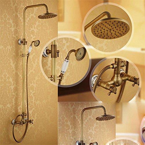 SKBE douche de cuivre antique de la salle de bain ensemble robinet tête de douche Set de douche chaude et froide douche rétro