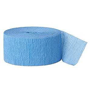 24m Baby Blue Crepe Paper Party Streamer