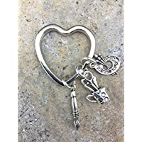 Artists Heart Key Ring, Key ring for Artist, Gift for Art Teacher, Artist key ring, Art Charms, Painter Gift