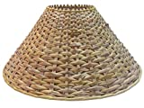 "RDC 13"" Round Cane Lamp Shade for Table or Floor Lamp"