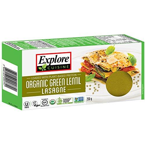 Explore Cuisine - Lasagne aus grünen Linsen, BIO, vegan, glutenfrei, 250g (Bio-linsen)