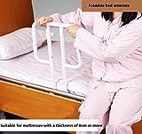 MEYLEE Guida del letto di sicurezza domestica regolabile per corrimano sul lato del letto + maniglia di supporto per assistenza anziani
