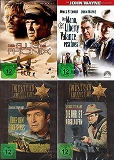 James Stewart Collection - Die Uhr ist abgelaufen + Über den Todespass + Der Mann der Liberty Valance erschoss + Der Flug des P