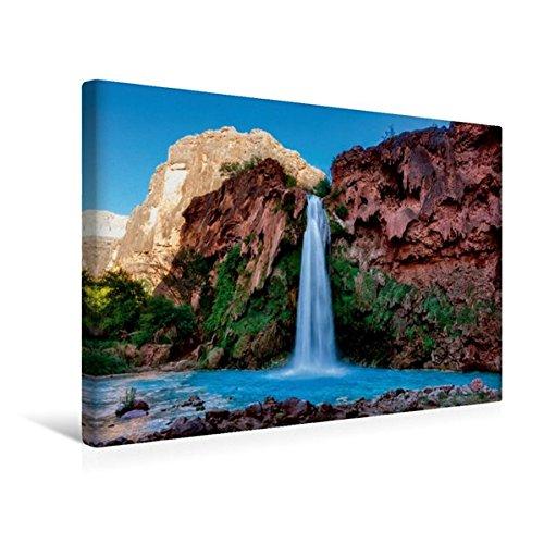 Premium Textil-Leinwand 45 cm x 30 cm quer, Havasupai Falls, Arizona   Wandbild, Bild auf Keilrahmen, Fertigbild auf echter Leinwand, Leinwanddruck (CALVENDO Natur)