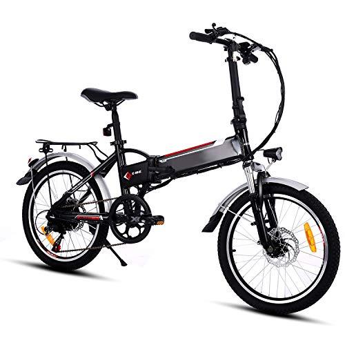 Speedrid Bici elettrica Pieghevole per Bici elettrica 26/20 Ebike Bici elettrica per Bici con Motore brushless da 250 W Batteria al Litio 36 V 8 Ah Shimano 21/7 velocità Tempi di Consegna 5-7 Giorni