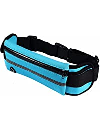 Waterproof Pouch Bag, Elastic Waist Bag, Blue Mens Running Belt Key Holder, Gear Outdoor Pack For Workout Excercise...