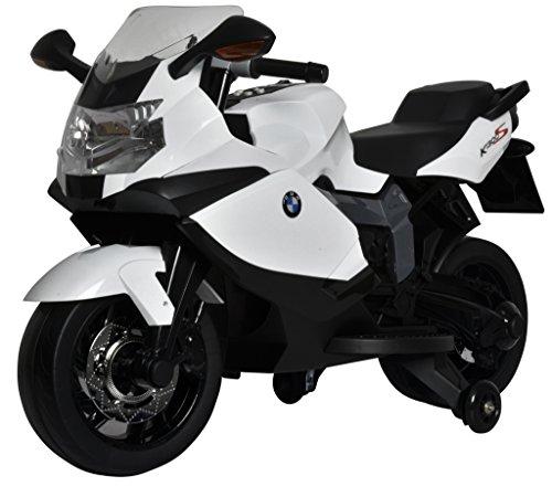 SCHIANO BMW K1300S - Moto elettrica 12 V Con 3 Velocità, Luci Suoni E Chiave Accensione, Bianca