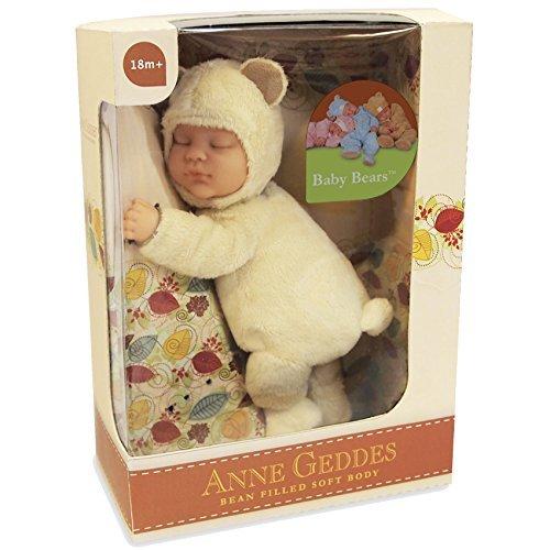 Anne Geddes Baby Light Yellow Bear - Bean Filled Soft Body Doll 23cm / Hellgelber Bär Bohne gefüllte Weichkörperpuppe (Bear Anne Geddes Baby)