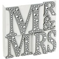 Salco Mr and Mrs Plaque with Jewell - White