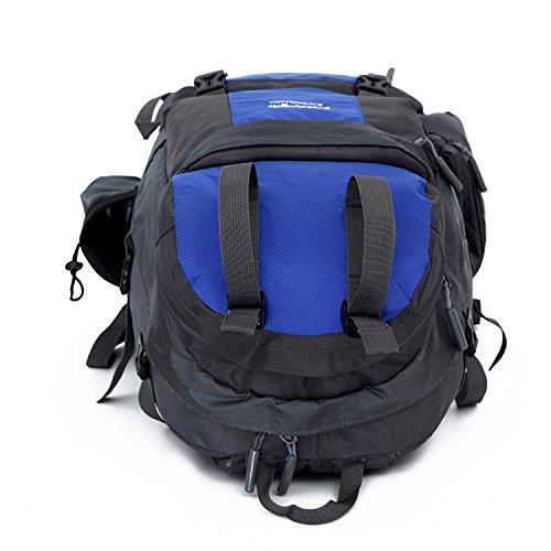 HWJDK Outdoor Escursionismo Climbing Zaino Zaino da ciclismo Borsa da montagna impermeabile Unisex Borsa da viaggio ad alta capacità , gray Blue