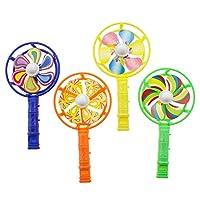 12 قطعة من صافرة لعبة على شكل طاحونة هوائية على شكل صافرة مبتكرة للأطفال الصغار (لون عشوائي) للأطفال