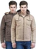 Be-Beu Men's Polyester Reversible Jacket (Camel_XXL)