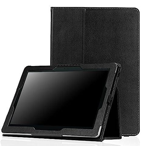 MoKo Etui ASUS ZenPad 10 Z300C - étui Fin et Pliable pour Tablette ASUS ZenPad Z300C / Z300M / Z300CNL / Z300CG / Z300CL 10.1 Pouces 2015, NOIR