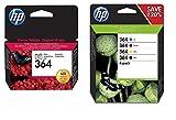 HP 364 Pack de 4 Cartouches d'encre pour Photosmart C5324/C6380/D5460/C309g/C410b Assorties