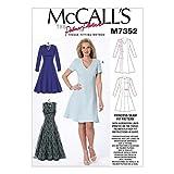 McCall 's Damen Schnittmuster 7352Jewel & V-Ausschnitt fit & Flare Kleider