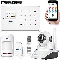 KERUI G18 KERUI G18 Android APP iOS Contrôle Sans fil Système de Sécurité GSM Système d'alarme sans fil Magnétique Fenêtre Capteur + Détecteur de Mouvement + IP Camera IR Infrared Surveillance Camaras Home Security