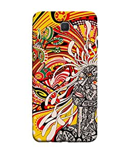 Fuson Designer Back Case Cover for Samsung On5 (2016) New Edition For 2017 :: Samsung Galaxy On 5 (2017) (rounds circle art drawing artistic )